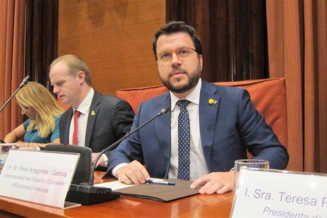 El vicepresident de la Generalitat i conseller d'Economia, Pere Aragons.