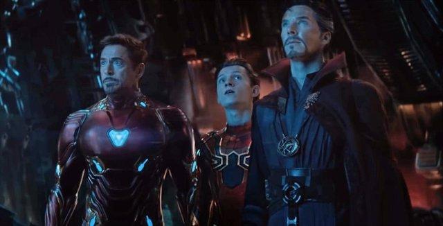 Imagen de Iron Man, Spider-Man y Doctor Extraño en Vengadores: Infinity War