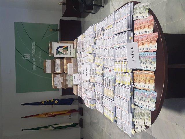 Boletos intervenidos en las sedes de OID en Cádiz y Chiclana