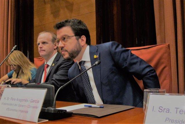 El vicepresident de la Generalitat i conseller d'Economia, Pere Aragons