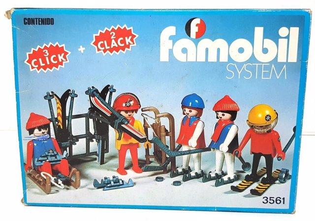 Imagen de un paquete de famobil en la I edición del 'Madrid Toy Show'.