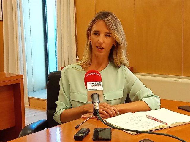 Cayetana Álvarez de Toledo, portavoz del PP en el Congreso, en una entrevista con Europa Press