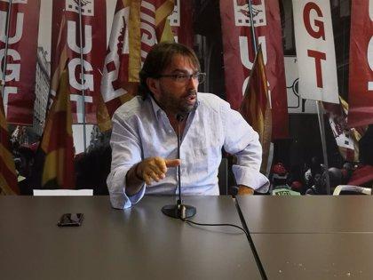 """Ros (UGT) critica la comparecencia de Aragonès como """"ejemplo de la no política"""" y pide presupuestos"""