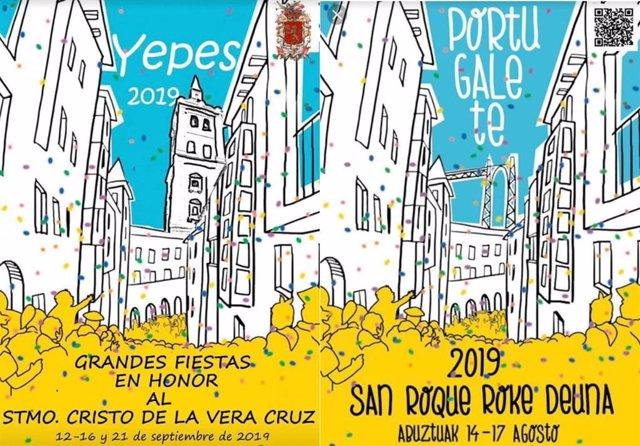 El PSOE de Yepes acusa al equipo de Gobierno de PP y Cs de haber plagiado el cartel anunciador de las fiestas al municipio de Portugalete