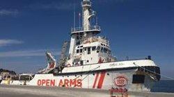 Els migrants de l'Open Arms seran reubicats a Espanya, França, Alemanya, Portugal i Luxemburg (PROACTIVA OPEN ARMS)