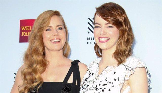 Amy Adams y Emma Stone durante la 39ª edición del Mill Valley Film Festival