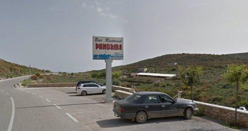 Cartel del restaurante albanés Panorama