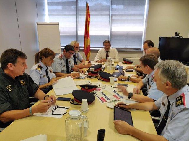 Reunió de seguiment del pla estival d'acció policial a Catalunya