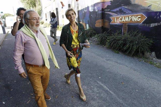 La directora de Turismo de Galicia, Nava Castro, en una visita en Valdoviño.
