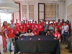 Els treballadors de l'empresa Troquelados Terrassa exigeixen el pagament dels sous endarrerits després del tancament (ACN)