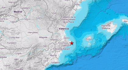 Un terremoto de 2,8 de magnitud con epicentro en Poble Nou de Benitatxell hace temblar la Marina Alta