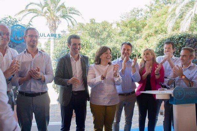 Pablo Casado en una imagen de archivo en el inicio del curso político del PPCv en la Pobla de Farnals (Valencia)
