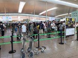 Normalitat a l'Aeroport de Barcelona en el catorzè dia de vaga de vigilants de seguretat (EUROPA PRESS)