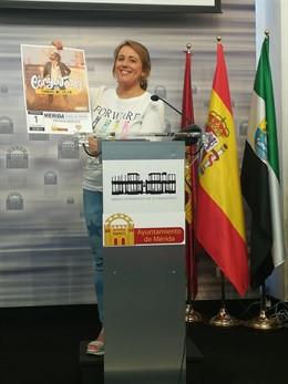 Ana Aragoneses en la presentación del concierto en Mérida de El Canijo de Jerez