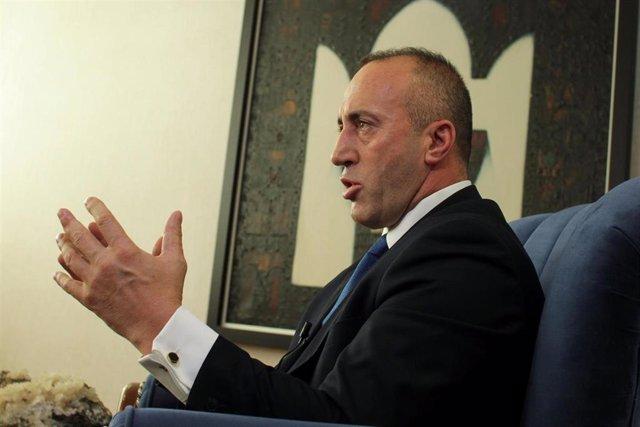 El ex primer ministro de Kosovo Ramush Haradinaj