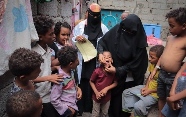 Campaña de vacunación oral contra el cólera en Yemen