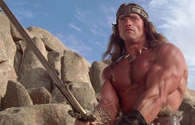 Imagen de Arnold Schwarzenegger en Conan el bárbaro