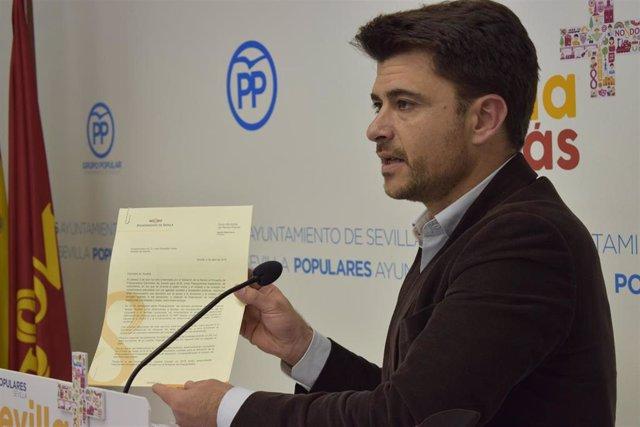 El portavoz del PP en Sevilla, Beltrán Pérez