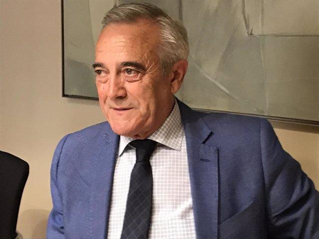 El presidente de las Cortes de Aragón, Javier Sada.