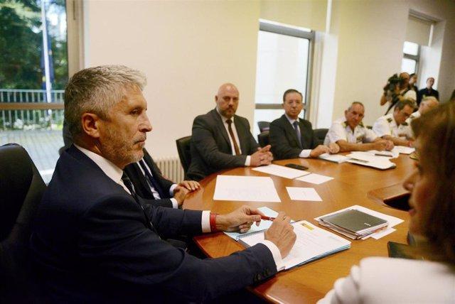 El ministro del Interior en funciones, Fernando Grande-Marlaska, en visita oficial a San Sebastián