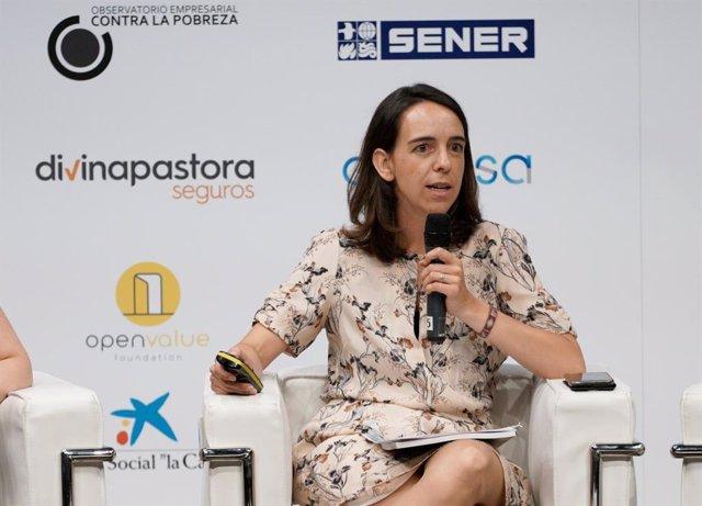Mónica Gil Casares, coautora de la investigación, durante la presentación de la misma.