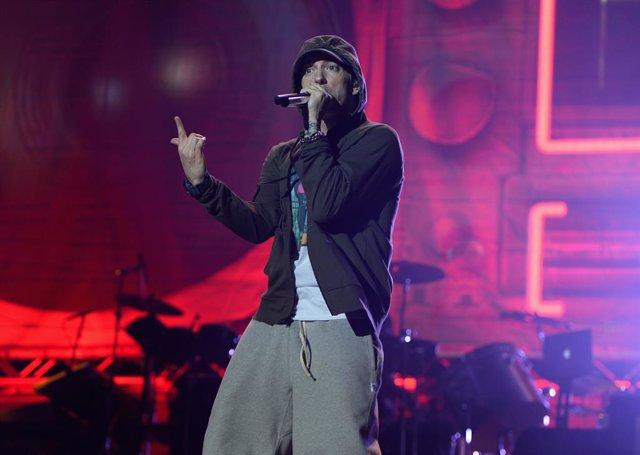 Actuación del rapero Eminem