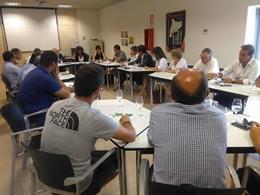 Reunió d'aquest dimecres entre Generalitat, productors i empreses.