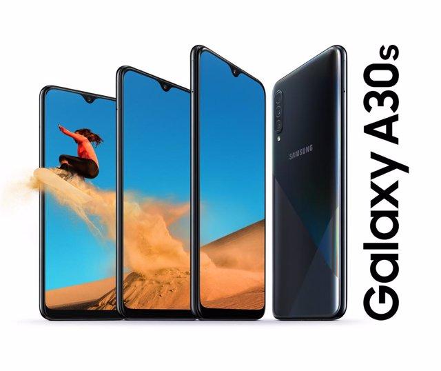 Galaxy A30s renueva la gama media de Samsung con cámara triple y batería de 4.00