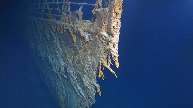 Imagen de restos del Titanic filmados por Atlantic Productions