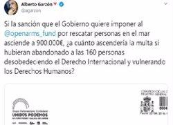 Garzón, davant la multa del Govern espanyol a l'Open Arms: I quina és la sanció per deixar morir els migrants? (EUROPA PRESS - Archivo)