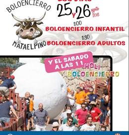 Imagen de recurso del cartel de los boloencierros en Mataelpino (Madrid) de la edición de 2018.