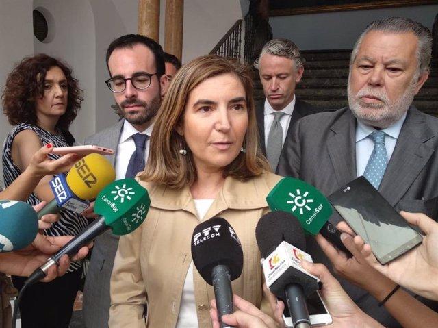 La consejera de Empleo, Formación y Trabajo Autónomo de la Junta de Andalucía, Rocío Blanco, en una imagen de archivo
