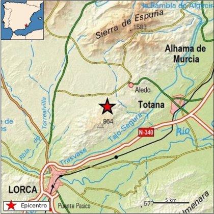 Se registra un terremoto de 2,3 grados al norte de la sierra de la Tercia