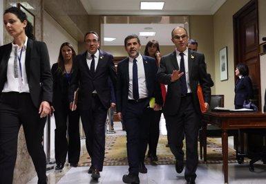 """JxCat s'obre a replantejar el seu 'no' a Sánchez si ofereix """"un espai estable de diàleg bilateral"""" (MARTA FERNÁNDEZ JARA - EUROPA PRESS - Archivo)"""