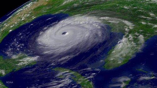Huracán en el Golfo de México