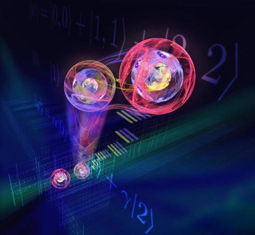 Primer éxito en la transferencia de estados cuánticos tridimensionales
