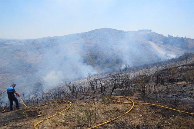 Incendio forestal en Mijas