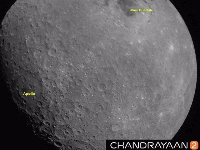 Primera imagen de la Luna enviada por la misión india Chandrayaan 2