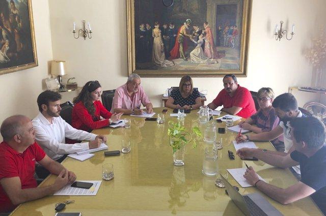 [Grupoextremadura] Nota Y Foto Reunión Equipo De Gobierno Diputación Plan Activa