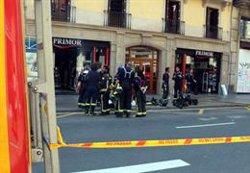 Un incendi crema el magatzem d'una perfumeria del carrer Pelai de Barcelona (ACN)