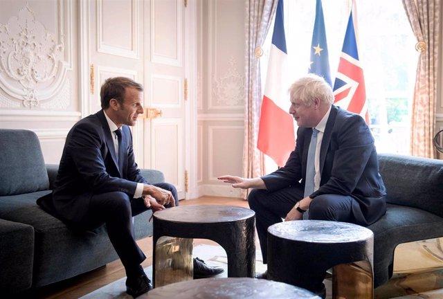 Boris Johnson y Emmanuel Macron
