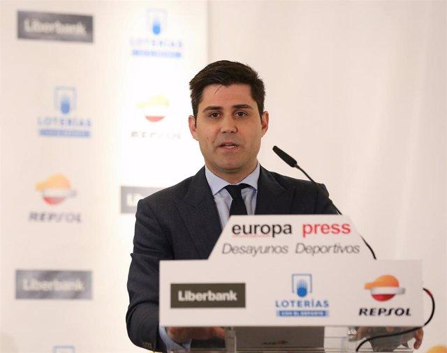 El presidente de la Asociación de Futbolistas Españoles, David Aganzo.