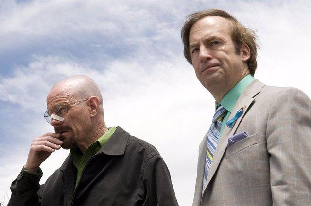 Walter White (Bryan Cranston) y Saul Goodman (Bob Odenkirk) en Breaking Bad