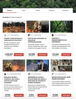 Imagen sobre las peticiones del Amazonas en Change.Org