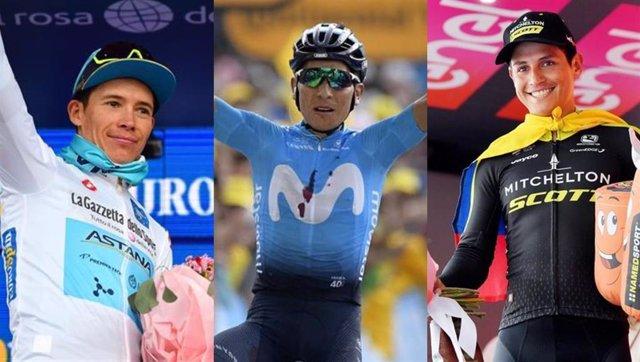 Miguel Ángel López, Nairo Quintana y Esteban Chaves