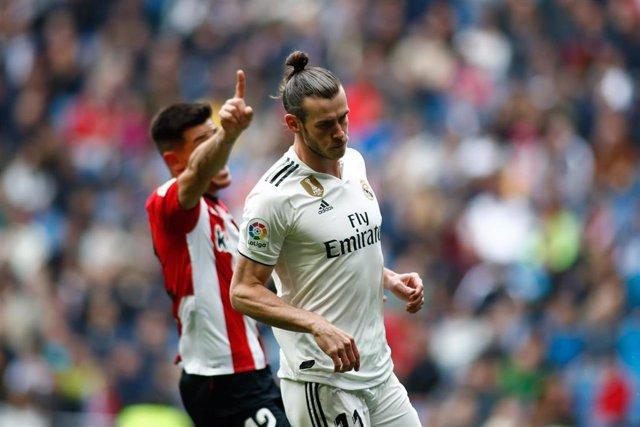 Gareth Bale durante el partido entre el Real Madrid y el Athletic Club de LaLiga Santander 2018-2019