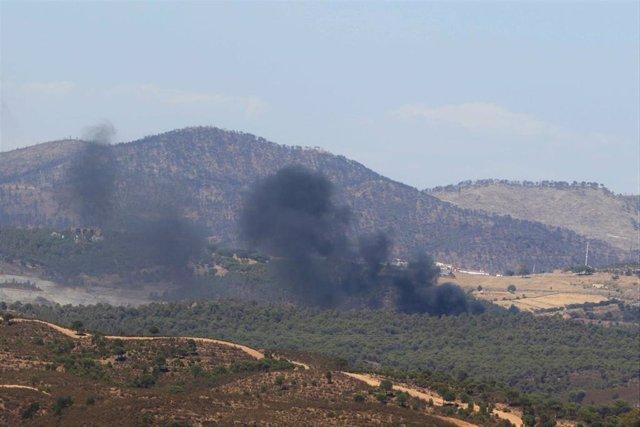 Incendio en el vertedero de Nerva.