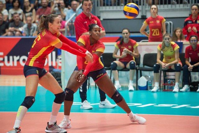 La selección española femenina de voleibol en el Campeonato de Europa