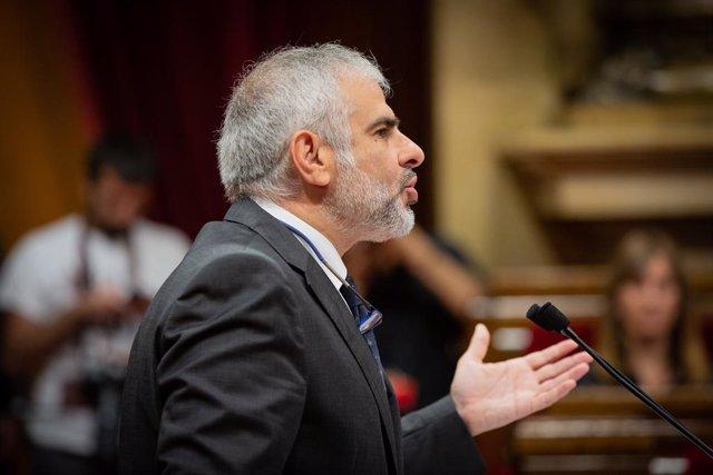 El president de Cs en el Parlament i membre de l'Executiva Nacional de Cs, Carlos Carrizosa, en una imatge d'arxiu.
