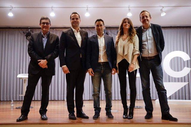 Imagen de archivo del vicepresidente regional, Ignacio Aguado, con el consejero de Políticas Sociales, Alberto reyero, y el diputado regional Javier Luengo.